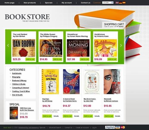 FreeOnlineBookStoreOscommerceResponsiveTheme