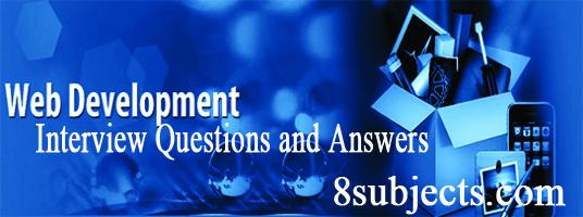 web development interview question