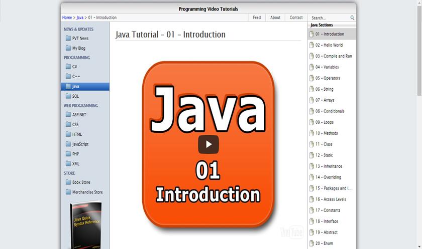 Best Tutorial Websites for Java 2017 - 8 SUBJECTS