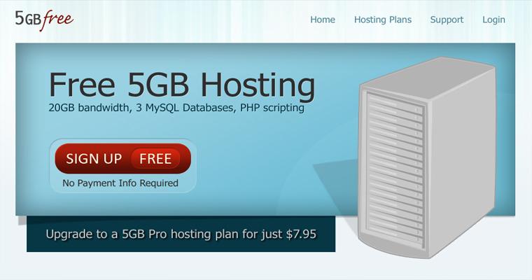 Miễn phí 5GB host tại 5GBFree