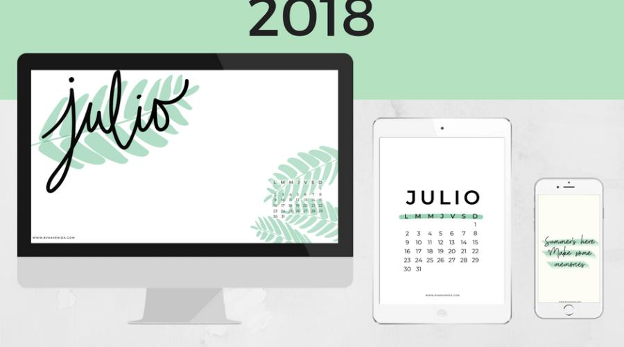Fondos de pantalla Julio 2018
