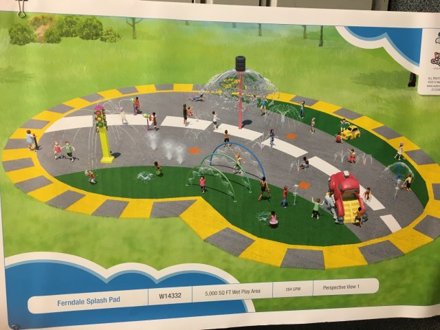 A rendering of a proposed splash pad at Martin Road Park. All renderings by Hamilton Anderson Associates.