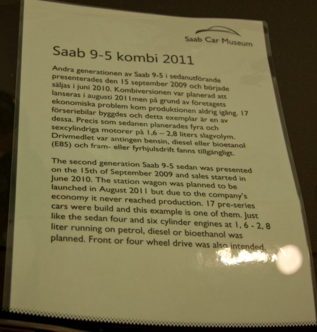 Display sign with Nr 9 in the Saab Museum.