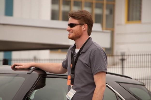 Ethan Morris next to his nr 31 at the Saab Festival in Trollhättan, 1 June 2013