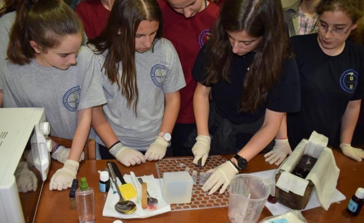 Εκπαιδευτική δραστηριότητα: παραγωγή πολύχρωμων σαπουνιών