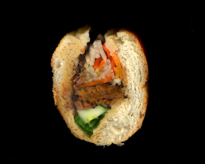 Nha Toi: Braised Beef, Shredded Carrots, Cucumber, Cilantro, on a toasted baguette