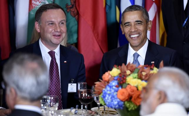 Prezydent RP Andrzej Duda i prezydent USA Barack Obama