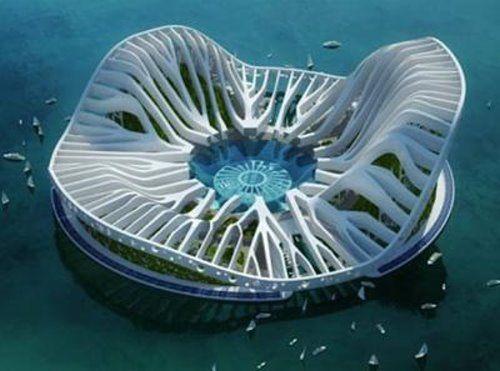 Lilypad : Floating, Eco, Refugees Architecture