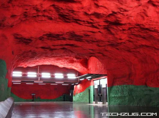 Underground Metro Station in Dubai