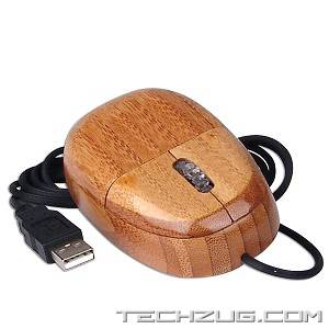 Real Wood Keyboard and Optical Mouse Set (USB)