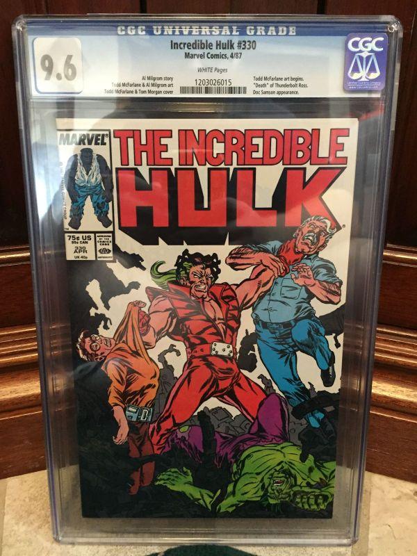 Incredible Hulk #330 Cgc 9.6 Nm Todd Mcfarlane Art Begins C1 Id 4152