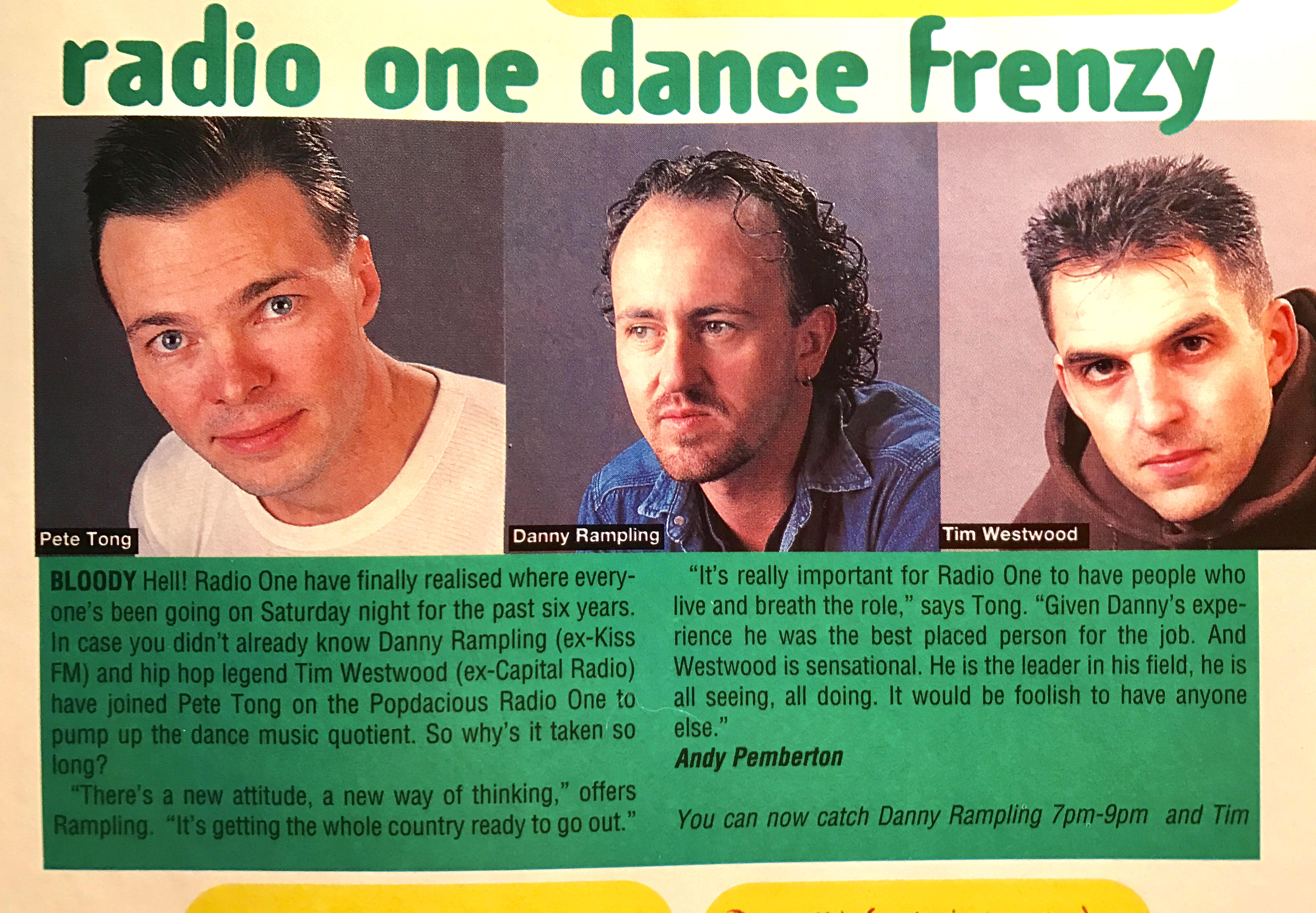 Dance music invades the (commercial) airwaves... [January 1995]