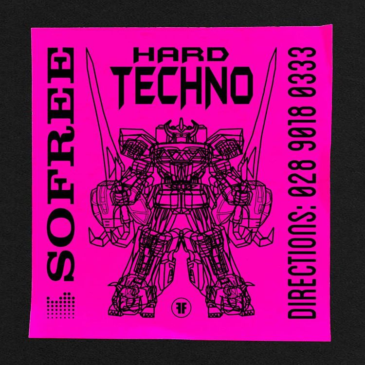 We can't get enough of these dayglo fake rave flyers