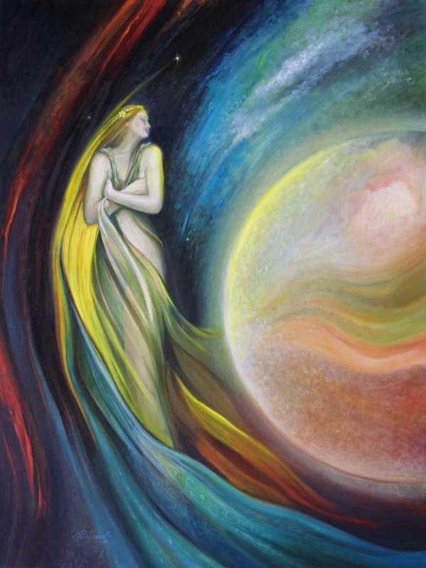 Beautiful Goddess Painting Art