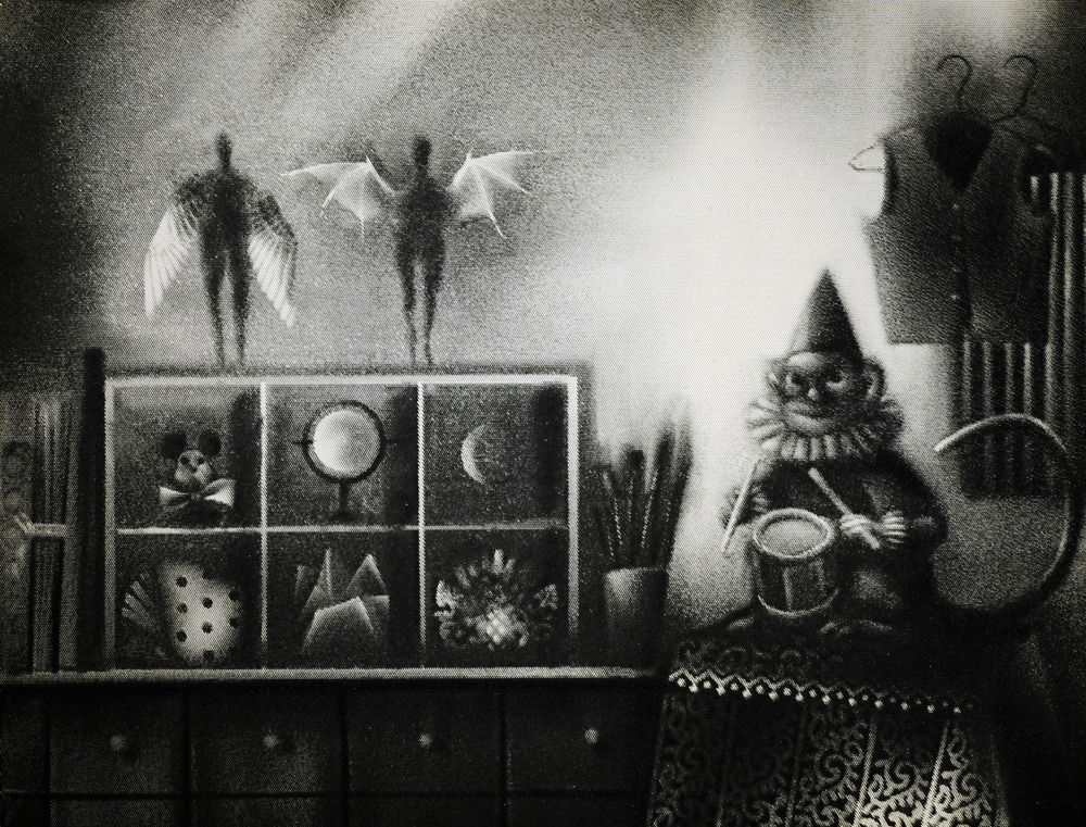"Pinscreen con una imagen creada para el filme ""Here and the Great Elsewhere"" (2012) Foto: Michèle Lemieux"