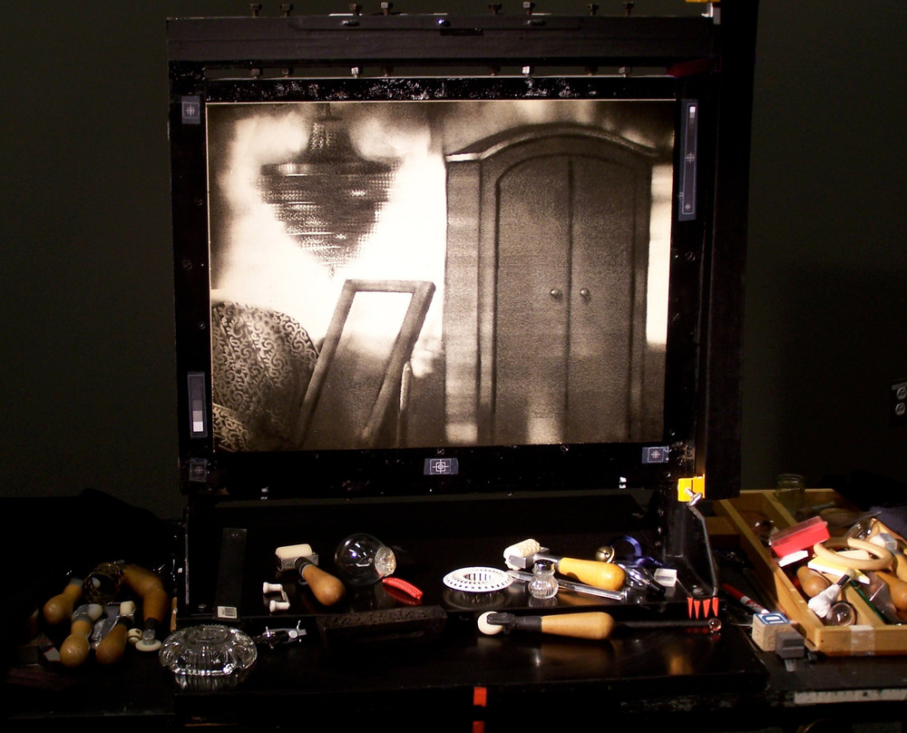 Pinscreen y herramientas utilizadas por Michèle Lemieux Foto: Michèle Lemieux
