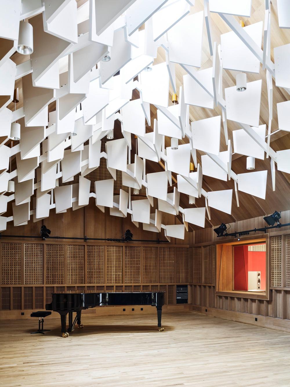 Salón para conciertos. Diseño: Buol & Zünd Foto: Georg Aerni
