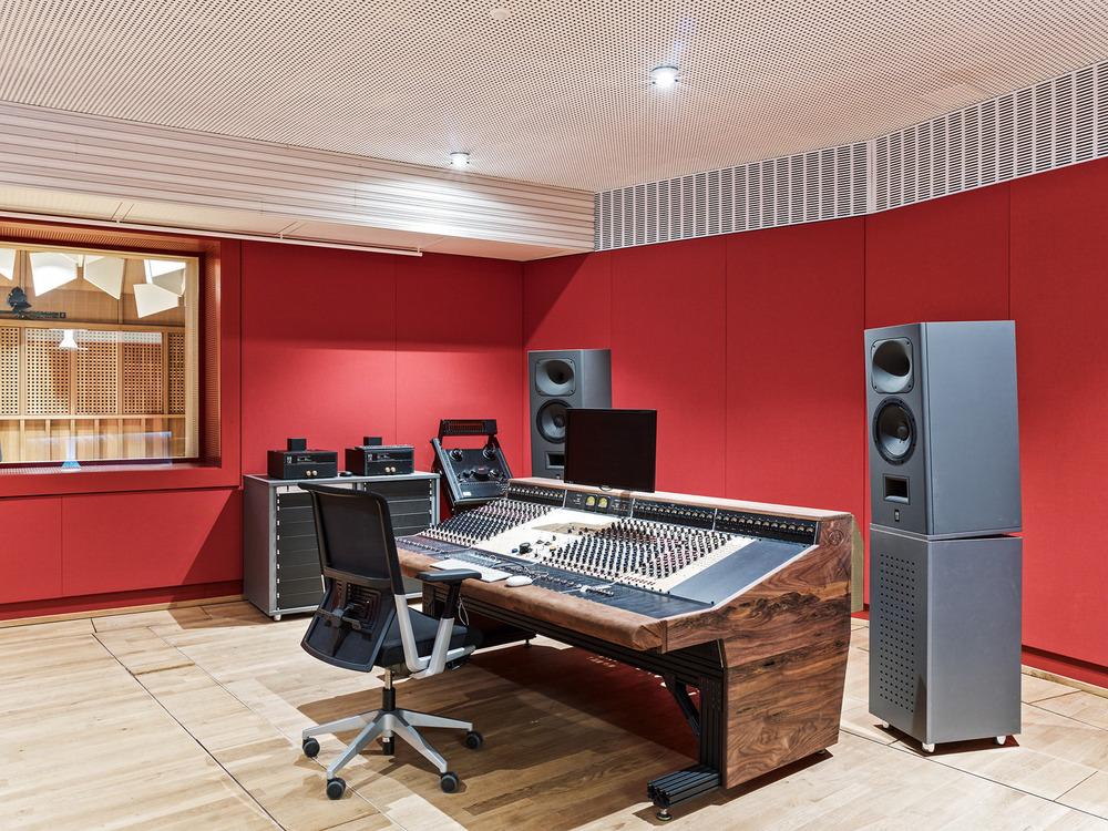 Estudio de grabación. Diseño: Buol & Zünd Foto: Georg Aerni