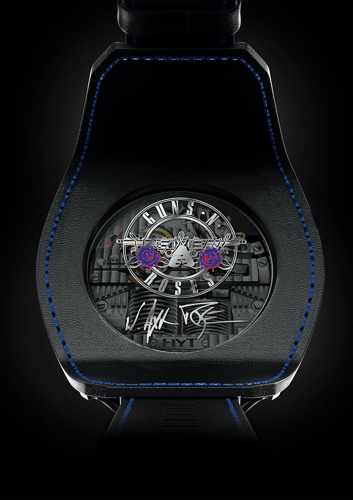 Dorso del Skull Axl Rose. Cortesía de HYT Watches