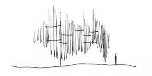 """Sketch """"Líneas"""" que rellenan el espacio"""