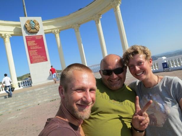 Auf dem .... Monument mit dem durchgeknallten Sascha