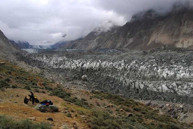 Pause am Hopper Gletscher