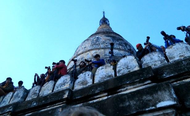Guten Morgen in Bagan