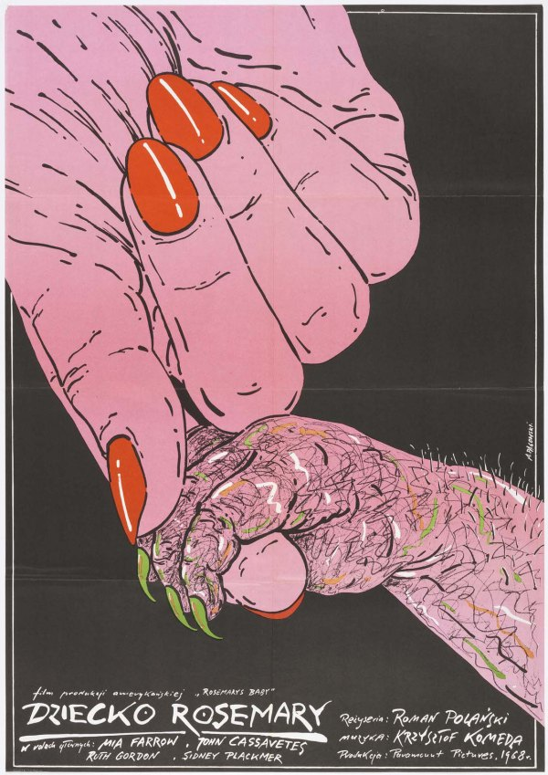 Andrzej Pagowski (Polish, b. 1953). Dziecko Rosemary [Rosemaryís Baby], 1984. Offset lithograph. 95.3 ◊ 67 cm (37 1/2 ◊ 26 3/8 in.). Gift of Sara and Marc Benda, 2010-21-20. Photo: Matt Flynn.
