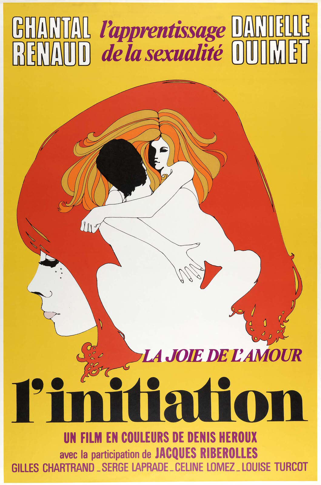 Jacques Delisle (Canadian, b. 1941) for CinÈpix Film Properties, Inc. (CFP) (Montreal, Canada). LíInitiation, 1970. Offset lithograph. 101.6 x 68.6 cm (40 x 27 in.). Gift of Sara and Marc Benda, 2010-21-97. Photo by Matt Flynn.