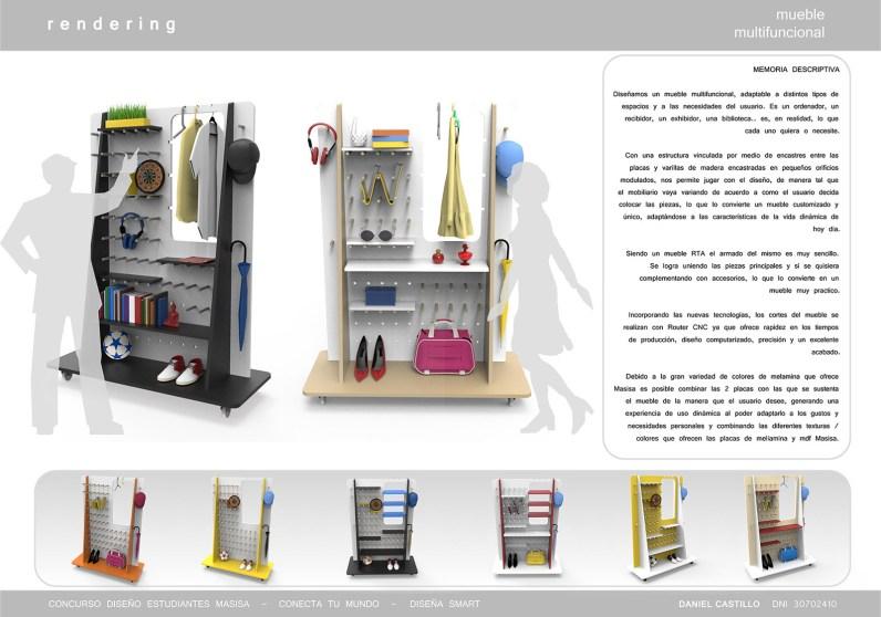 Mueble multifuncional de Daniel Castillo – Diseño Industrial en Instituto Tecnologico ORT.