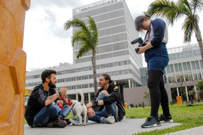 Josefina Fogel Nuñez, Paul Fava, Eddie Fitte y Bobo. Foto: Adri Godis