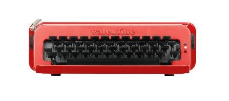 Máquina de escribir Valentine de Olivetti (1969). Sottsass.