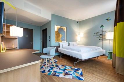 25hours Hotel Zürich West por Alfredo Häberli. Foto: Jonas Kuhn