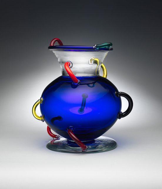 "Ettore Sottsass (Italian, 1917-2007). ""Mizar"" Vase. 1982. Glass. The Metropolitan Museum of Art, Gift of Daniel Wolf, 2017. © Studio Ettore Sottsass Srl"