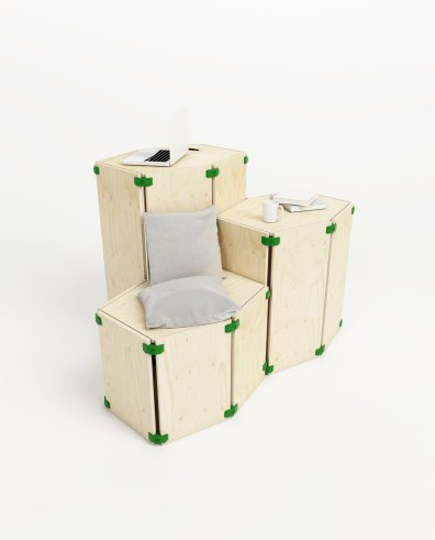 Dike hexagonal standing desk - Playwood