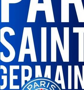 Paris Saint Germain strandlaken blauw logo 70 x 140 cm