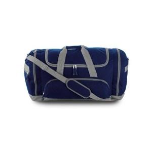 Grote sporttas reistas blauw/grijs 69 cm