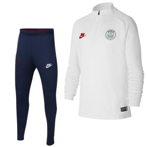 Nike Paris Saint Germain Strike Drill Trainingspak 2019-2020 Kids Wit Platinum