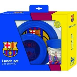 FC Barcelona eetset blauw FCB 3 delig