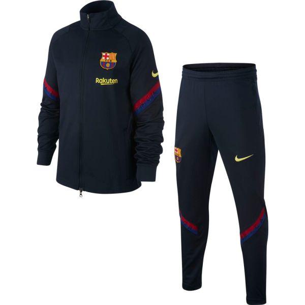Nike FC Barcelona Strike Trainingspak 2020 Kids Donkerblauw