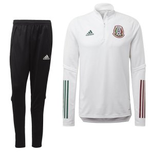 adidas Mexico Top Trainingspak 2020-2021 Wit Zwart