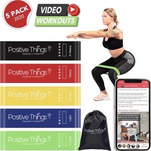 Positive Things - Resistance Bands - Fitness Elastieken Set van 5