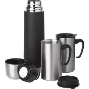 RVS thermosfles/isoleerkan 500 ml set met 2 thermosbekers