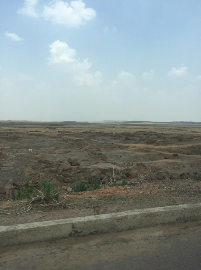 dry lake outside babina