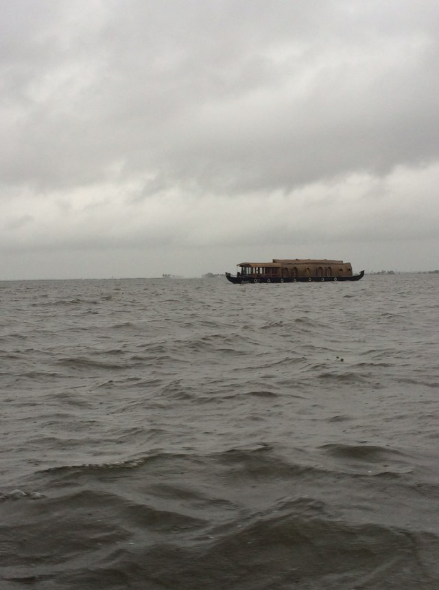 A houseboat on the Vembanad lake.