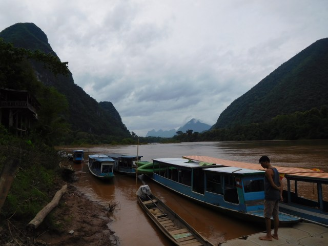 View from the boat station at Muong Ngoi