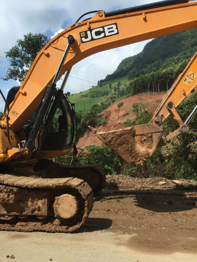 One of the Earth movers pressed into action