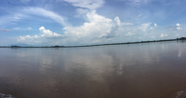 The stunning views on the way... this is the Mekong River