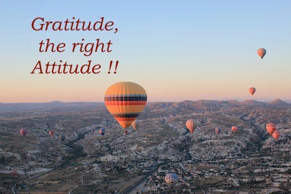 Balloons over Cappadoccia, Gratitude