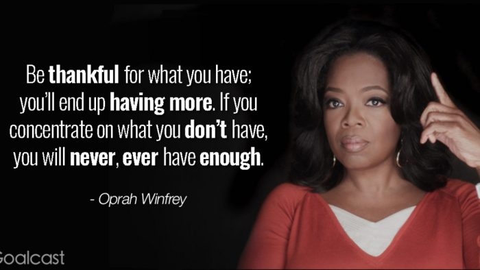 Oprah on Gratitude